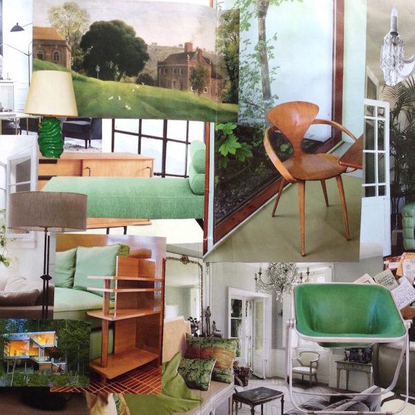 Tendenza Verde +legno. Il soggiorno.