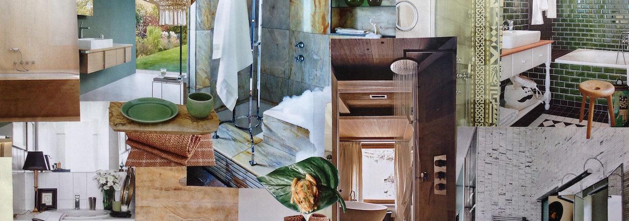 Tendenza Verde +legno. Il bagno