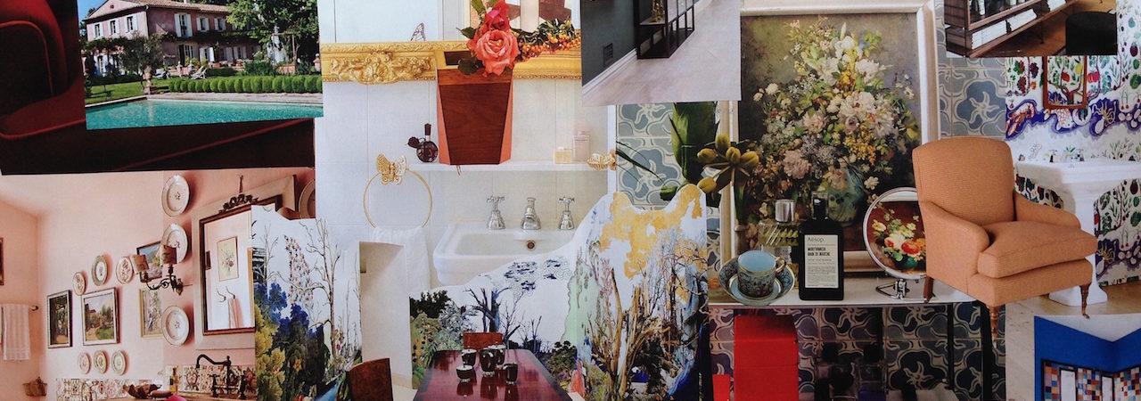 Tendenza: i colori e i fiori. Il bagno