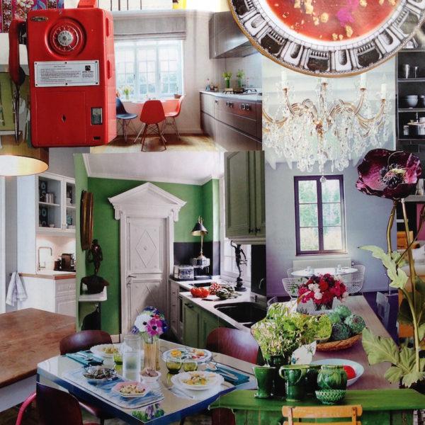 Tendenza: i colori e i fiori. La cucina