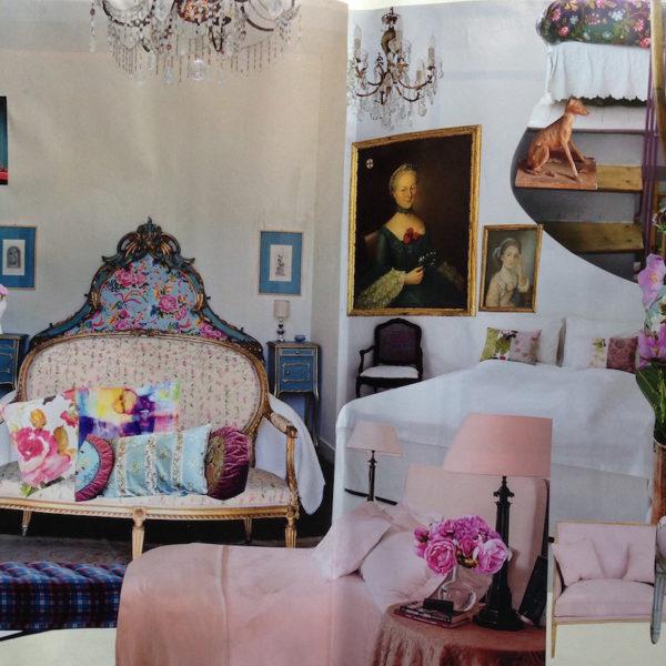 Tendenza: i colori e i fiori. La camera da letto