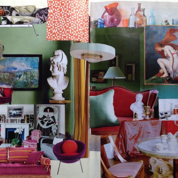tendenza: i colori e i fiori. Il soggiorno