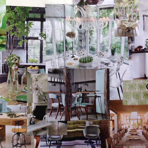 Tendenza Verde +legno. La cucina