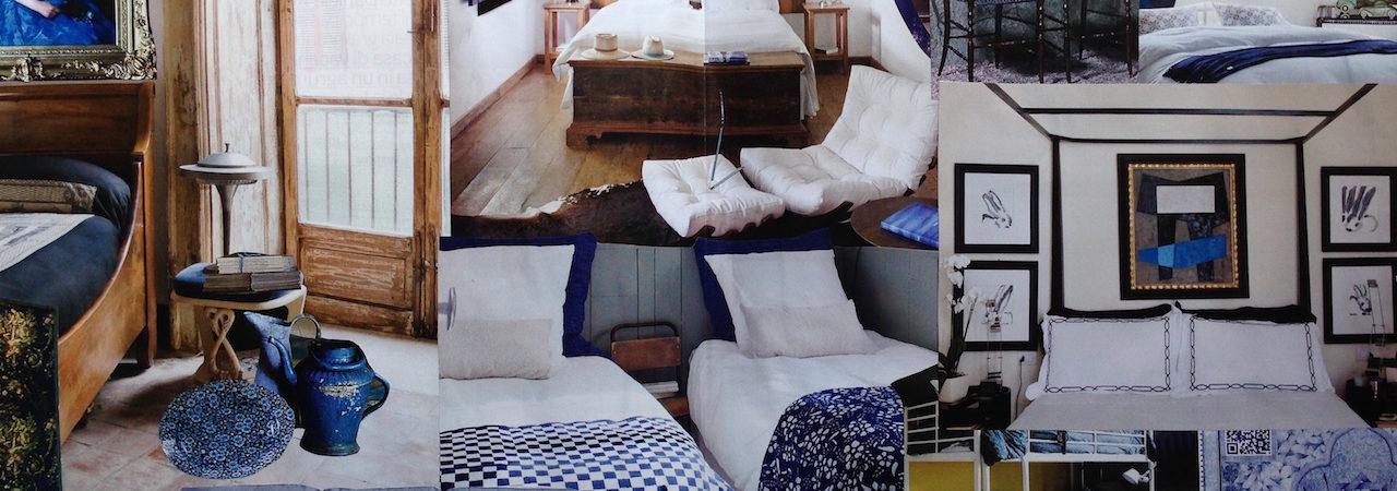Tendenza: I Blu. La camera da letto